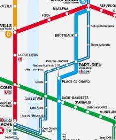 plan tcl de Lyon